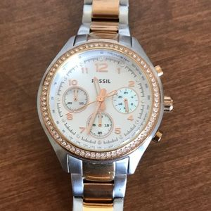 Gorgeous Two-tone Fossil Women's Watch